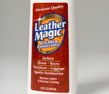Magic Leather Product with Bright Graphics Label