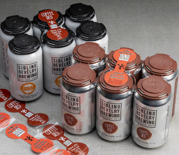 Beer Can Lid Labels